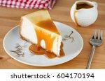 new york cheesecake with... | Shutterstock . vector #604170194