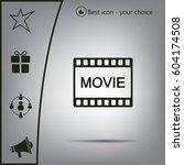 movie icon | Shutterstock .eps vector #604174508