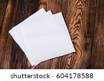 napkin isolated on wooden... | Shutterstock . vector #604178588