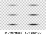 set of vector oval gray shadows ... | Shutterstock .eps vector #604180430