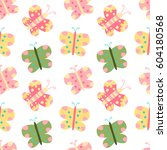 seamless vector pattern with... | Shutterstock .eps vector #604180568