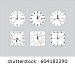 set vector image of...   Shutterstock .eps vector #604182290