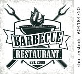 vintage barbecue restaurant... | Shutterstock .eps vector #604184750