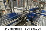 automated roller conveyors with ... | Shutterstock . vector #604186304
