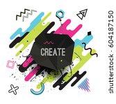 vector modern dynamic... | Shutterstock .eps vector #604187150