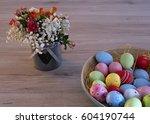 a bouquet of colorful mini... | Shutterstock . vector #604190744