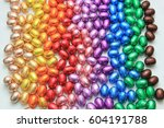 a group of foil wrapped... | Shutterstock . vector #604191788
