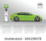 Vector Banner With Electric Ca...