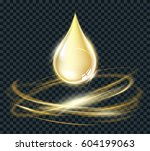 vector circle light effect with ... | Shutterstock .eps vector #604199063