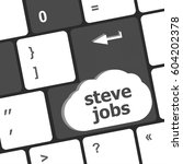 steve jobs button on keyboard   ... | Shutterstock . vector #604202378