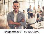 young business people during... | Shutterstock . vector #604203893