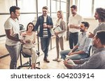 successful young business...   Shutterstock . vector #604203914