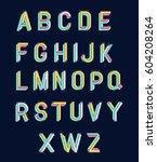 memphis style letters.... | Shutterstock .eps vector #604208264