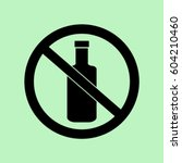 no alcohol icon  bottle... | Shutterstock .eps vector #604210460