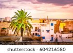 a street in medina in sousse ... | Shutterstock . vector #604216580