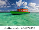 sailing in the caribbean ocean  ... | Shutterstock . vector #604222310
