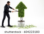 growing the economy company .... | Shutterstock . vector #604223183
