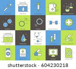 line icons set of medical... | Shutterstock .eps vector #604230218