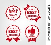 best choice  labels with ribbon.... | Shutterstock .eps vector #604230266