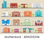 flat colorful vector city... | Shutterstock .eps vector #604233236