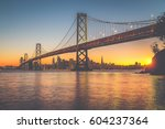 classic panoramic view of san... | Shutterstock . vector #604237364
