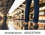 tourist on the train station | Shutterstock . vector #604237454
