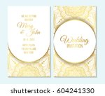 wedding invitation  thank you... | Shutterstock .eps vector #604241330