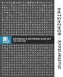 database and network icon set... | Shutterstock .eps vector #604245194