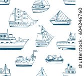 seamless pattern with doodle... | Shutterstock .eps vector #604246760