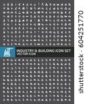 industry and building icon set... | Shutterstock .eps vector #604251770