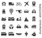 transportation icons on white... | Shutterstock .eps vector #604253396