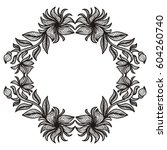 beautiful floral frame. vector... | Shutterstock .eps vector #604260740