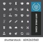 anti virus computer icon set... | Shutterstock .eps vector #604263560