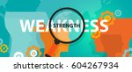 weakness and strength concept... | Shutterstock .eps vector #604267934