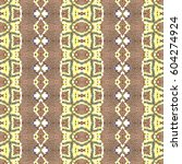 mosaic endless colorful pattern ... | Shutterstock . vector #604274924