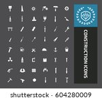 construction icon set clean... | Shutterstock .eps vector #604280009