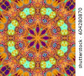illustration of a kaleidoscope  ... | Shutterstock . vector #604280870