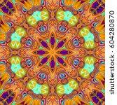 illustration of a kaleidoscope  ... | Shutterstock . vector #604280870