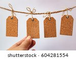 blank tag with string  price... | Shutterstock . vector #604281554
