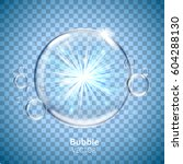 water bubble elements with... | Shutterstock .eps vector #604288130