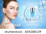 moist lotion toner contained in ...   Shutterstock .eps vector #604288139