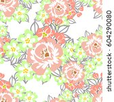 abstract elegance seamless... | Shutterstock . vector #604290080