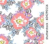 abstract elegance seamless... | Shutterstock . vector #604290116