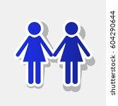 lesbian family sign. vector.... | Shutterstock .eps vector #604290644
