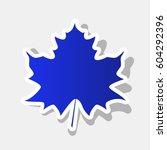 maple leaf sign. vector. new... | Shutterstock .eps vector #604292396