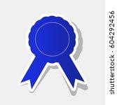 label sign ribbons. vector. new ... | Shutterstock .eps vector #604292456