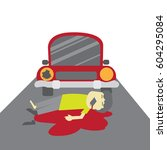 car accident concept... | Shutterstock .eps vector #604295084
