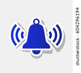 ringing bell icon. vector. new... | Shutterstock .eps vector #604296194