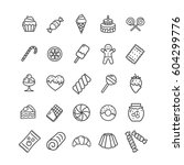 sweets and bakery icon black... | Shutterstock .eps vector #604299776