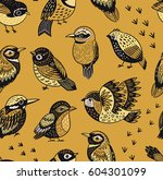 vector seamless pattern with... | Shutterstock .eps vector #604301099